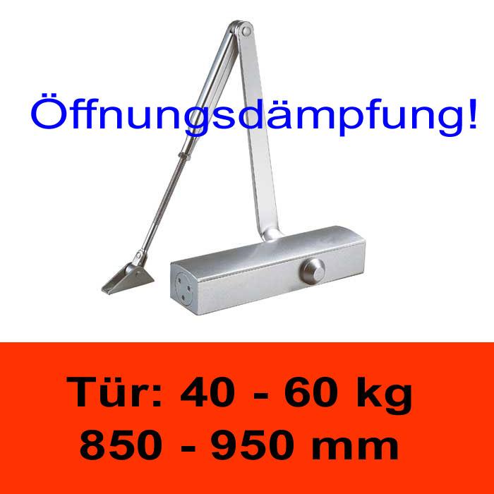 TÖSCH 703K Türschliesser mit Öffnungsdämpfung 40-60 kg, mit Knickarm