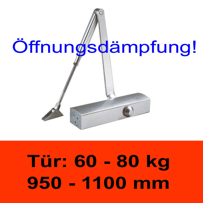 TÖSCH 704K Türschliesser mit Öffnungsdämpfung 60-80 kg, mit Knickarm