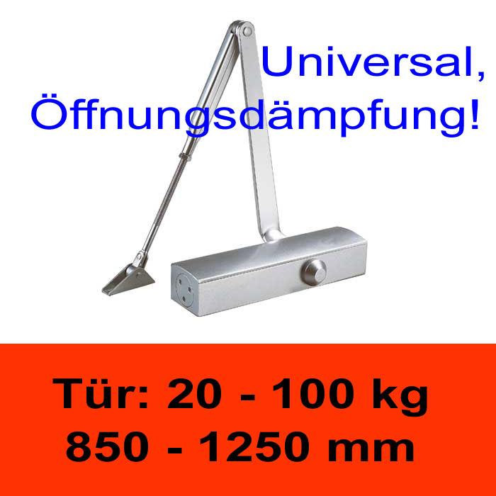 TÖSCH 725K Türschliesser mit Öffnungsdämpfung 20-100 kg, mit Knickarm